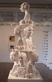 Sculpture by senior art major at Connecticut College