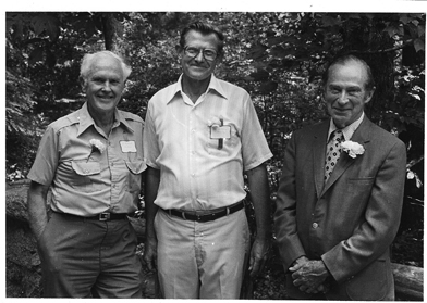 Richard Goodwin, William Niering and George Avery in 1981.