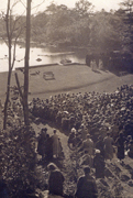 The Connecticut College Arboretum Outdoor Theater, ca. 1934.