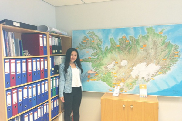 Yue Wu '14, our first intern in Iceland, conducted research for the Icelandic Tourist Board in Reykjavík.