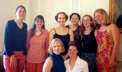 Members of the Goodwin-Niering Center for the Environment Class of 2002.