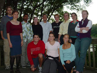 Members of the Goodwin-Niering Center for the Environment Class of 2003.