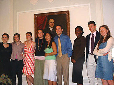 Members of the Goodwin-Niering Center for the Environment Class of 2006.