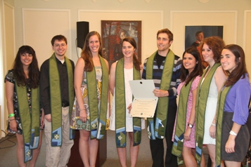 Members of the Goodwin-Niering Center for the Environment Class of 2012.