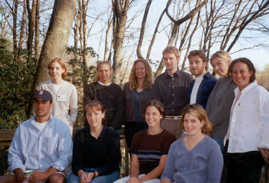 Members of the Goodwin-Niering Center for the Environment Class of 2001.