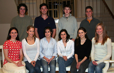 Members of the Goodwin-Niering Center for the Environment Class of 2010.