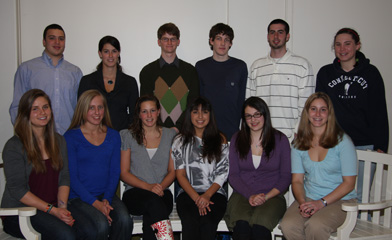 Members of the Goodwin-Niering Center for the Environment Class of 2011.