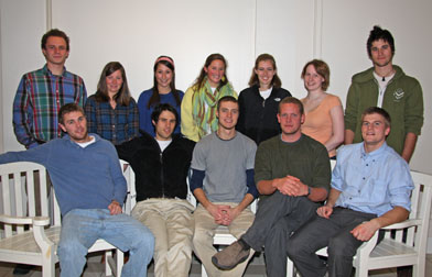 Members of the Goodwin-Niering Center for the Environment Class of 2009.